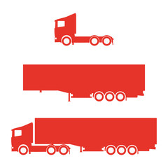 Lorry silhouette set