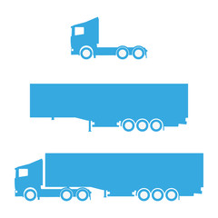 Lorry silhouette set