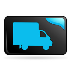 livraison sur bouton web rectangle bleu
