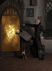 Sorcerer Opening a Magic Portal