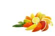 Spalten von Zitrusfrüchten isoliert