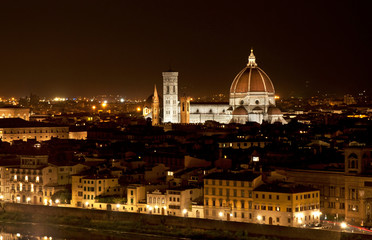 Night view on Florence, Italy