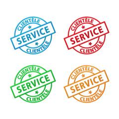 Tampons SERVICE CLIENTELE (satisfaction clients qualité)
