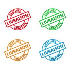 """Tampons Publicitaire """"LIVRAISON GRATUITE"""" (à domicile service)"""