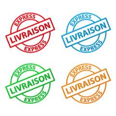 """Tampons Publicitaire """"LIVRAISON EXPRESS"""" (à domicile service)"""