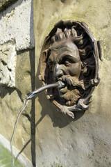 Pitigliano, Tuscany, fountain detail. Color image