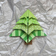 canvas print picture - Origami Christmas Tree