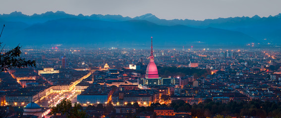 Turin (Torino), panoramic composition (7000px x 3000px)