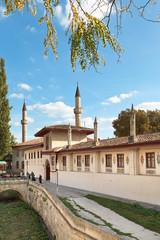 Khan's Palace in Bakhchisaray, Crimea in autumn