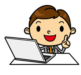 SDビジネスマンパソコン1