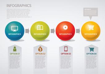 info graphics - step, circle, arrow