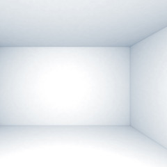 Empty white 3d room interior background with shadows