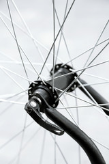 Closeup photo of some bicycle parts