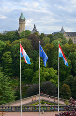 Luxemburg Town and Flags