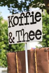 Coffee and tea sign