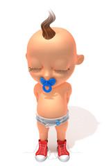 Baby Jake shy