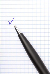 pen check mark
