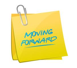 moving forward post it illustration