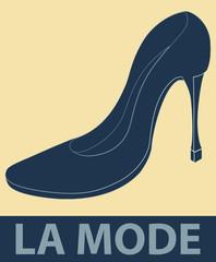 Chaussure de femme à talon haut