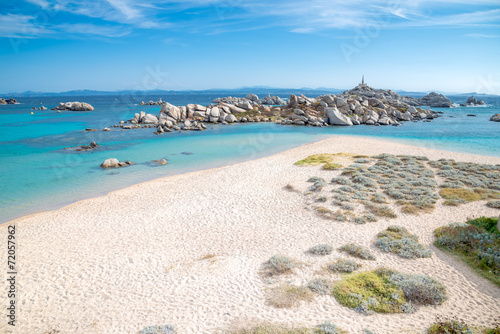 Fototapeta Cala Acciarino the most beautiful beach on Lavezzi Island Corse