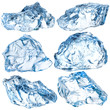 Pieces of ice isolated on white background. With clipping path - 72058310