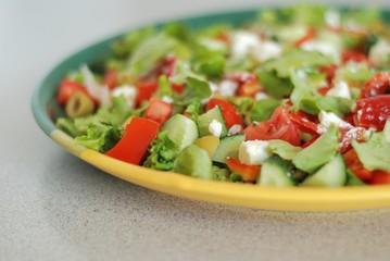 Tasty Greek Salad with feta