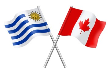 Flags: Uruguay and Canada