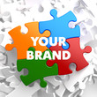 canvas print picture - Your Brand on Multicolor Puzzle.