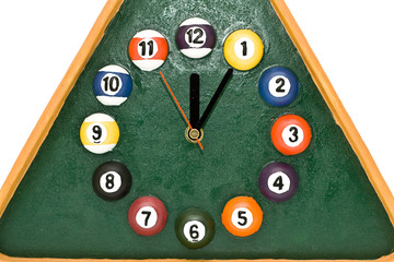 clock is billiards
