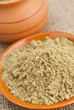 canvas print picture - raw organic hemp protein powder