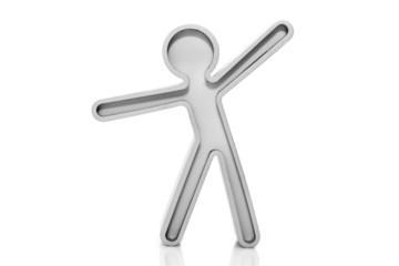 figurine with heaved
