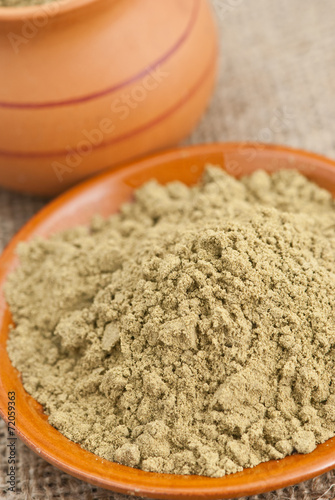 canvas print picture raw organic hemp protein powder