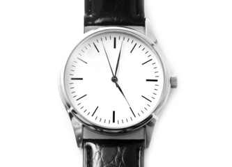 clock-face with a black small strap