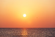 canvas print picture - Sonnenuntergang am Meer