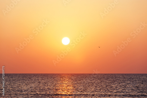 canvas print picture Sonnenuntergang am Meer