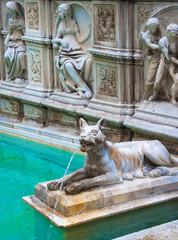 Fonte Gaia (Fountain of Joy), Piazza del Campo, Siena, Tuscany,