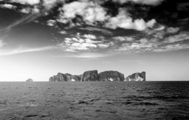 Dark Horizon Black Seascape