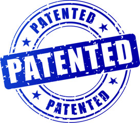 blue patented stamp