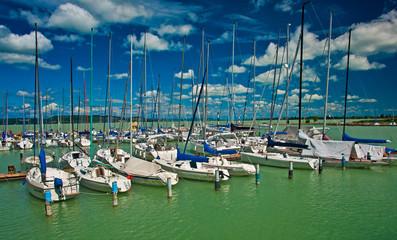 Port at lake Balaton, Hungary