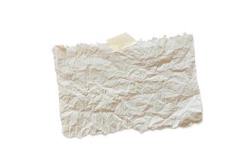 Papier Notiz Zettel zerknittert, Recycling, Seidenpapier