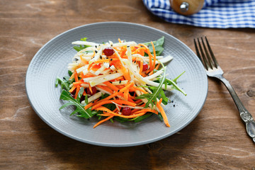 celery and carrot salad with cranberries