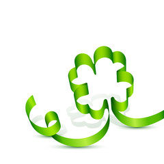 Lucky Charm Green Clover Leaf
