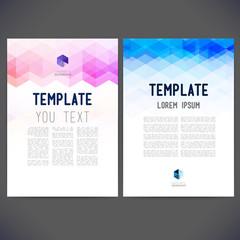 Abstract vector template design, brochure, Web