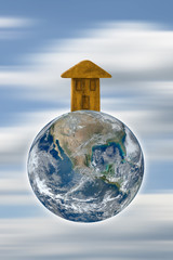 The Earth is our home - concept image with image from NASA