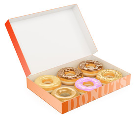 3D Box of donuts