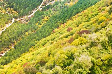 mountains slope of gorge ashlama-dere in Crimea