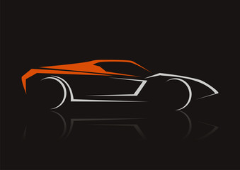 car automotive concept design vector