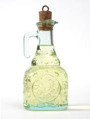 Oil in the decorative bottle