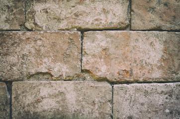 Alte Steinmauer, verwittert