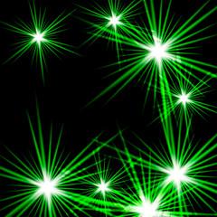 Green shining cosmic light